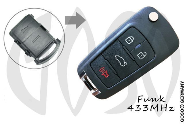 Opel remote key 433MHZ 2 button 0909