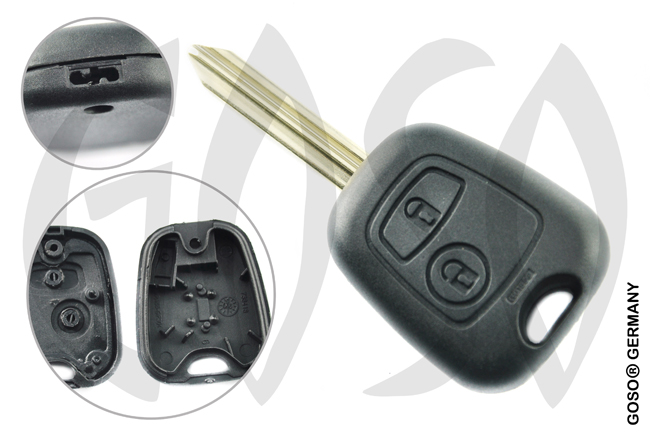 Key Shell for Citroen C4 C5 SX9 2 buttons SX9RS2 0930