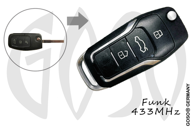 Remote Key for Ford   433MHZ 3 button 0978