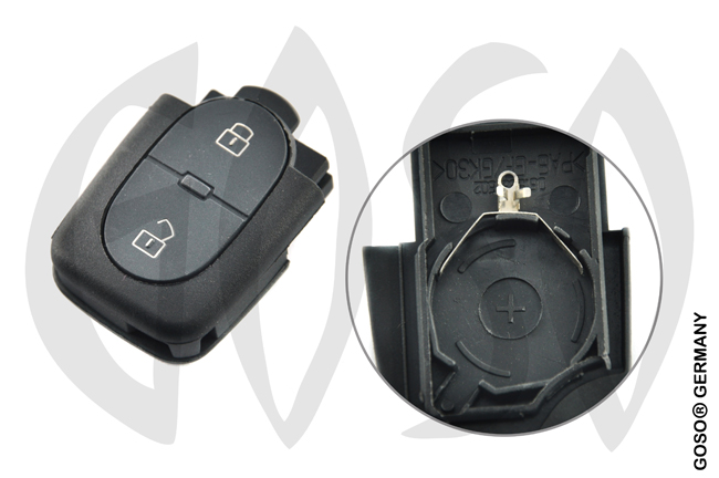Key Shell for VW Audi 2-button folding key housing HURSB2 0992
