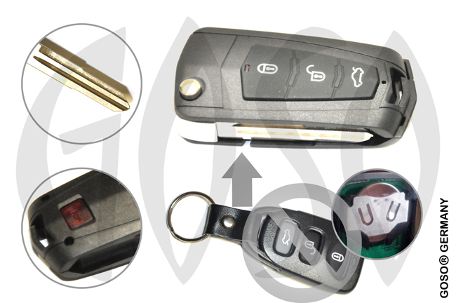 Kia Hyundai Key housing blank HYN6 1470