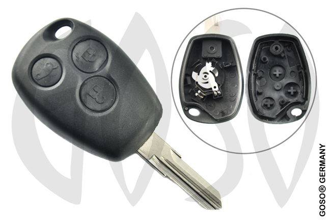 Key Shell for Renault Kangoo remote key housing blank 3 buttons 2149