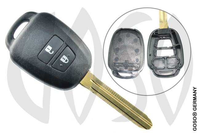 Toyota 2 button remote key blank shell TOY43CRS2N 2187