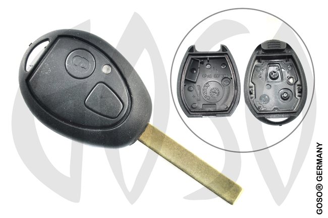 Key Shell for Rover 75 key housing blank 2 button 2279
