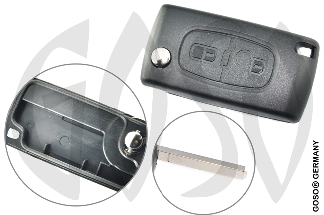 Citroen folding key housing blank VA2 VA2ARS2N 2361-2