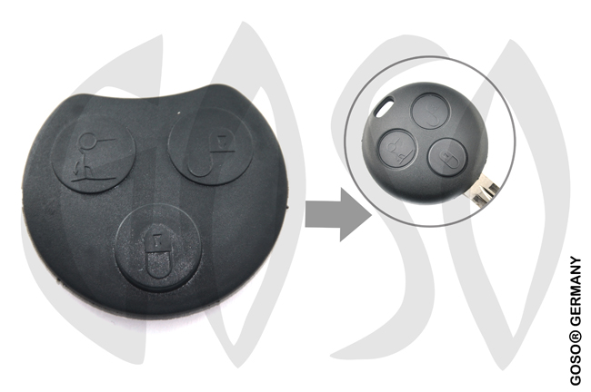 Mercedes Benz SMART 3 buttons  YMRS8 2415