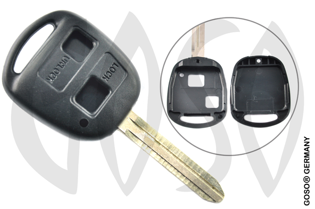 Toyota 2 button remote key blank housing TOY43BRS2 2705
