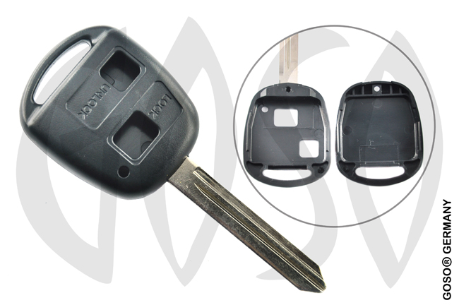 Toyota 2 button remote key blank housing TOY47BRS2 2750