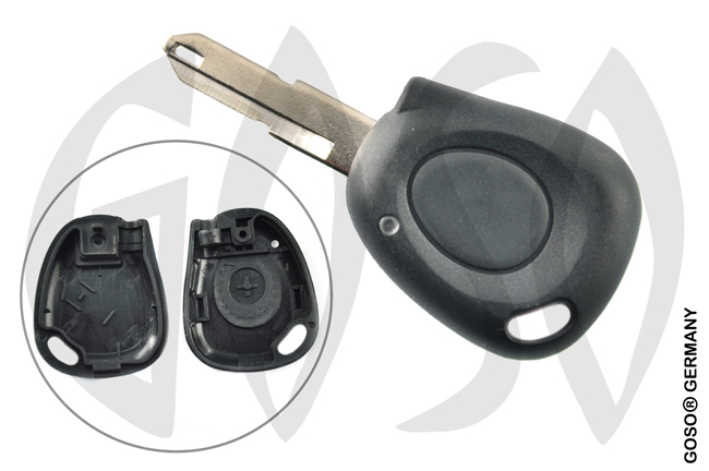 Renault Kangoo etc key blank housing 1 button 2835