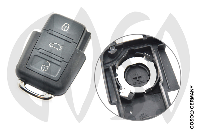 Audi HU66 3 Button folding key housing 3610