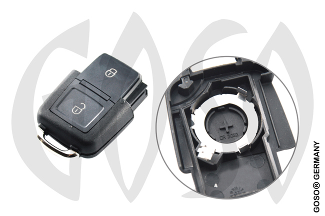 Audi HU66 2-button folding key housing 2972