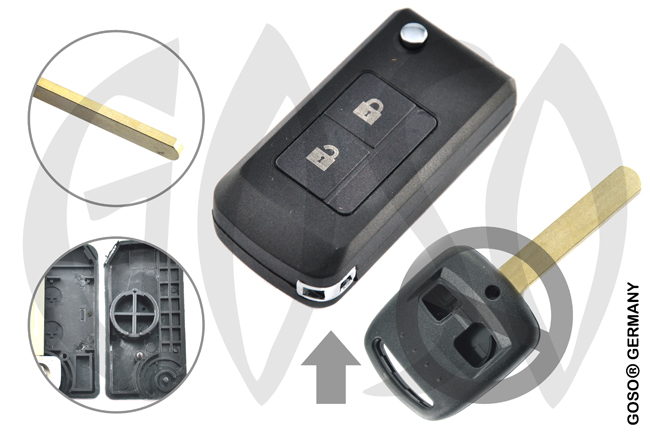 Subaru 2 button case Flipkey DAT17 HON66 3184