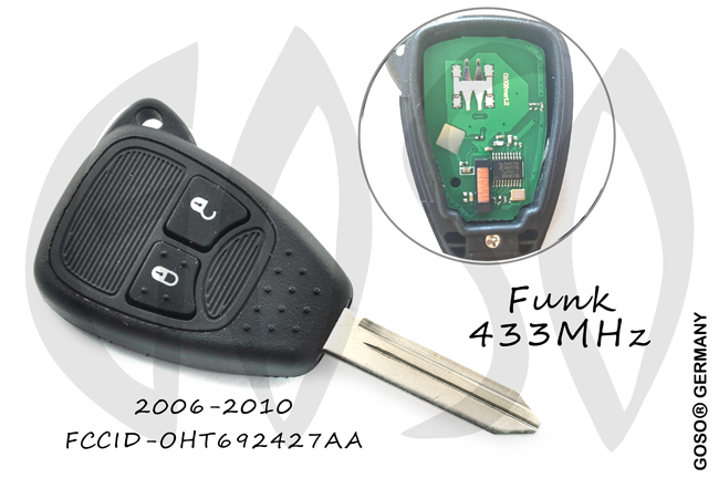 Remote Key for Chrysler 2 Buttons 433Mhz ID46 PCF7961 OHT692427AA CY24 3306