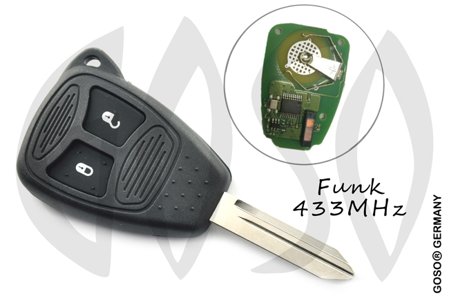 Remote Key Shell for Chrysler 2 Buttons 433 Mhz ID46 PCF7941A 3337-4