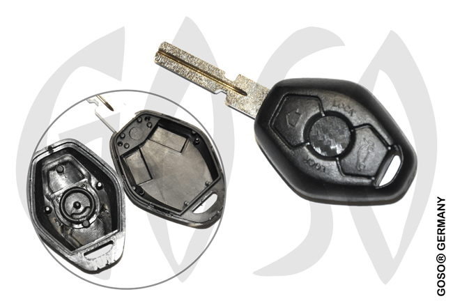 BMW key blanks 3 keys housing 3351