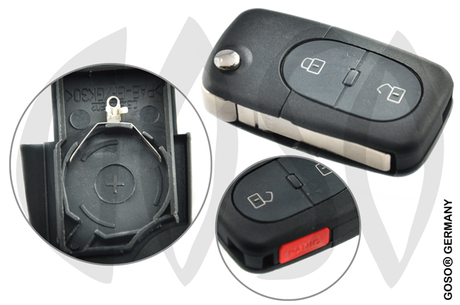 Audi A3 A4 A6 key 2 keys panic Housing HU66 3481
