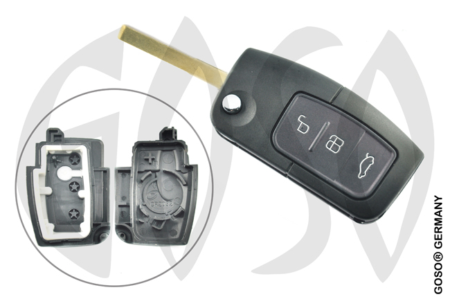 FORD FOCUS C-MAX MONDEO S-MAX key housing 3603