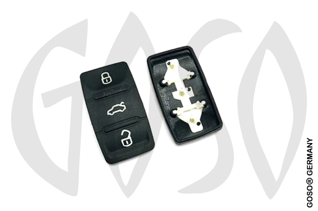 Audi key keypad for shell 3665-2
