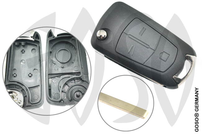 Opel Corsa Astra Vectra Zafira key housing HU100RS8 3832
