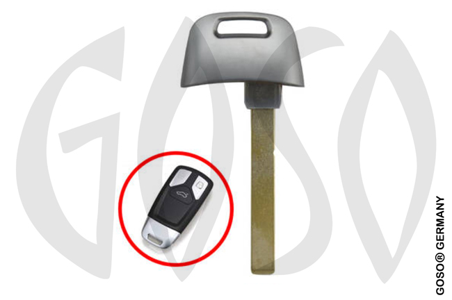 1 pc key blank for VAG Audi HU162 3856-16