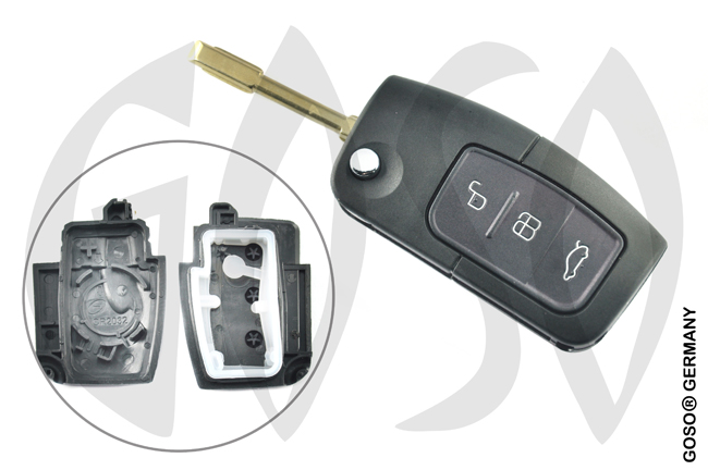 FORD FOCUS C-MAX MONDEO S-MAX key housing 3955