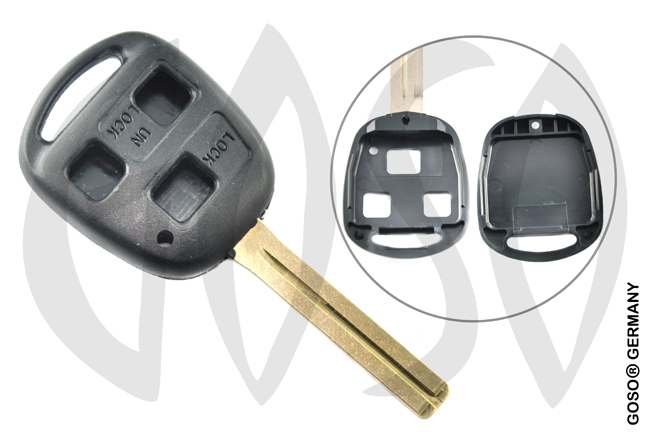 Key Shell for Toyota blank casing 3 buttons long 4129-2