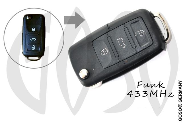 vw schl ssel geh use klappschl ssel beetle bora cabrio. Black Bedroom Furniture Sets. Home Design Ideas