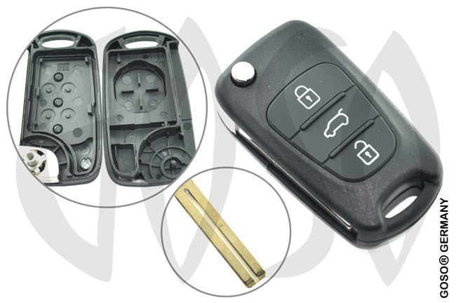 Kia Cerato key blank for folding 4358