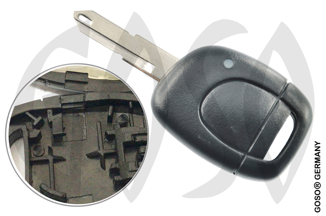 Renault Kangoo etc key blank housing 1 button 4389-2