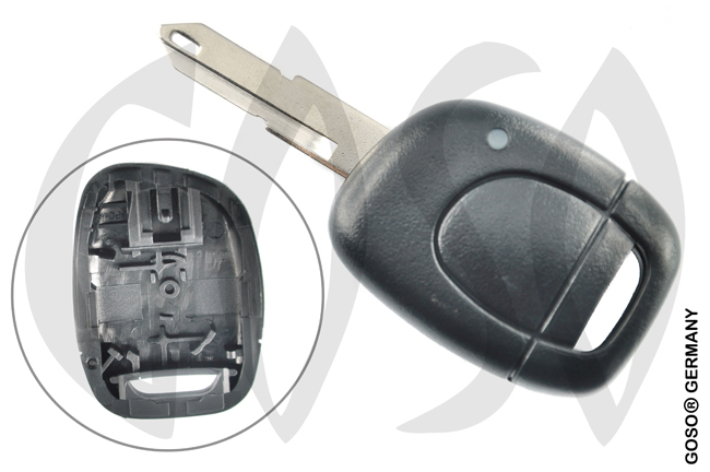 Renault Kangoo etc key blank housing 1 button 4389