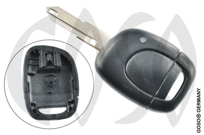 Key Shell for Renault Kangoo etc key blank housing 1 button 4396