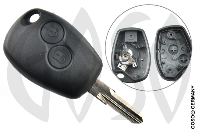 Renault Kangoo remote key housing blank 2 buttons 4822