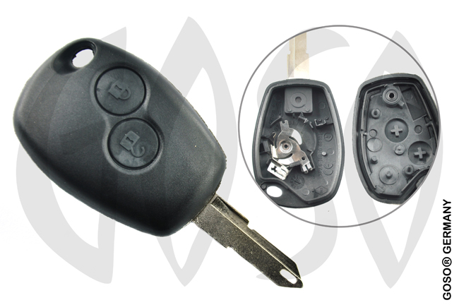 Key Shell for Renault remote key housing blank 2 keys 4839
