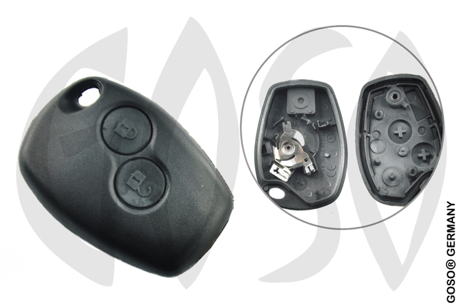 Key Shell for  Renault remote key housing 2 keys 4846