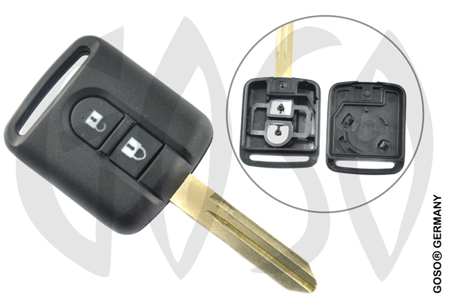 Nissan Micra radio key housing blank 2 buttons 4860