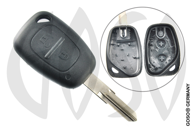 Renault Clio radio key blank housing 2 buttons  4907