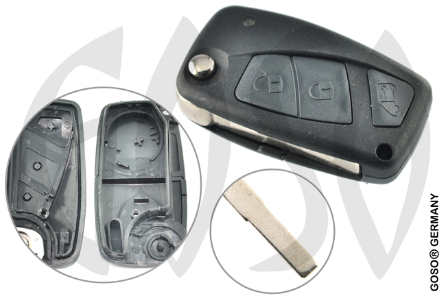 Fiat Focus C-Max funk key 3 buttons 5072