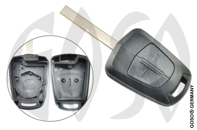 housing key blank for Opel Vectra etc  HU100 2 buttons 5249