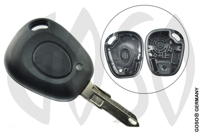 Key Shell for Renault Kangoo etc key blank housing 1B NE73ARS1 5287