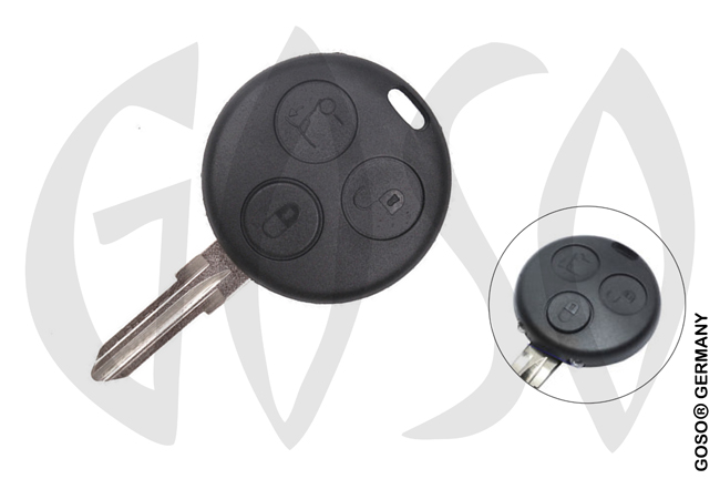 Key Shell for Smart Mercedes 3T YM23 5720-2