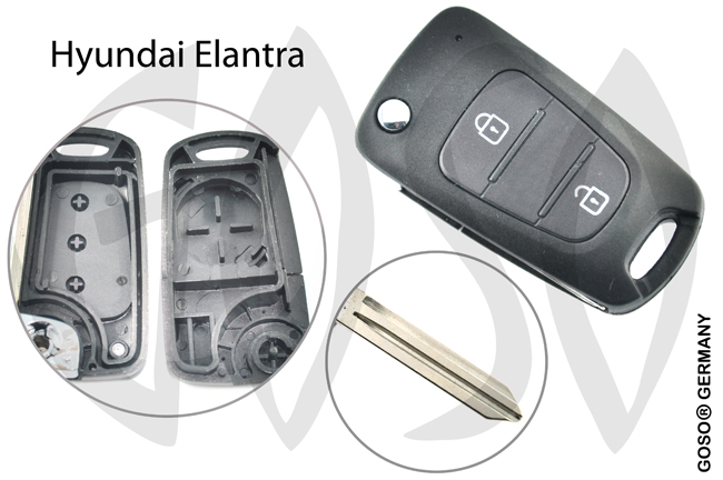 Hyundai Elantra HYN14E folding key blank 2 button  5768