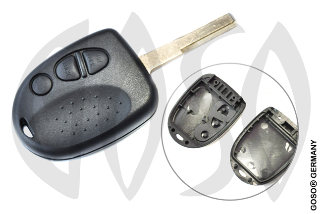 Chevrolet key shell blank 3 button 5980