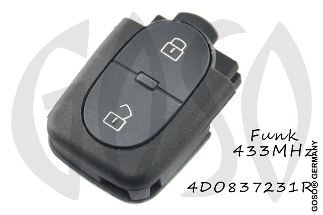 VAG Audi Remote Key 433MHZ ASK 2T 4D0837231 OT 6048