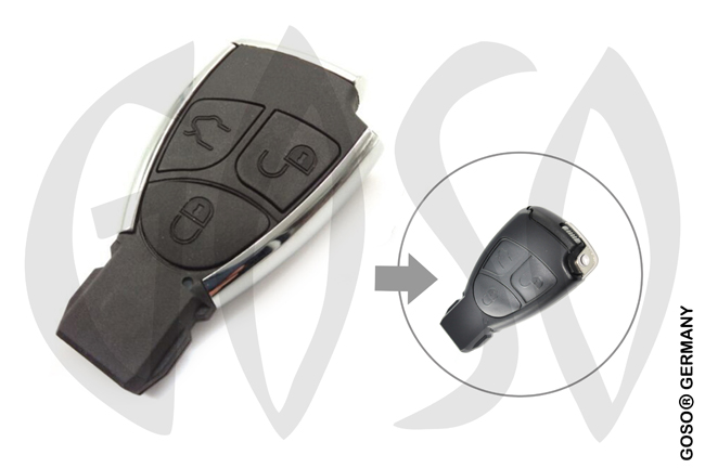 Mercedes Benz 3 button smart cover key 6123