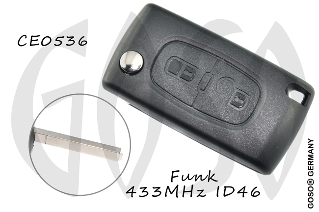 Citroen folding key housing blank VA2 CE0523 6185