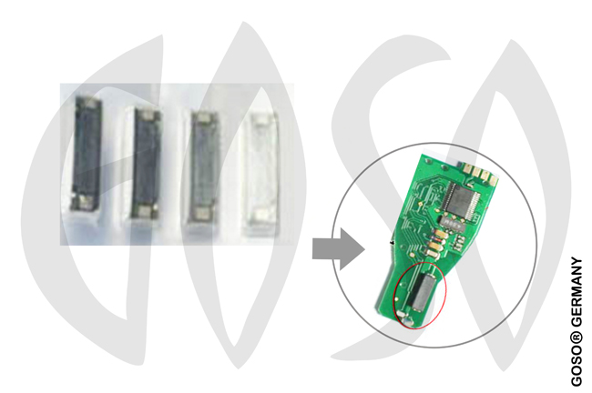 Immobilizer  Transponder Tp. for Mercedes  Coil PCB for Smart Key 6208-4