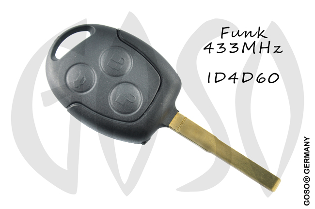 Remote Key for Ford   ID4D63 83 DST40 blank radio buttons case 3 6277