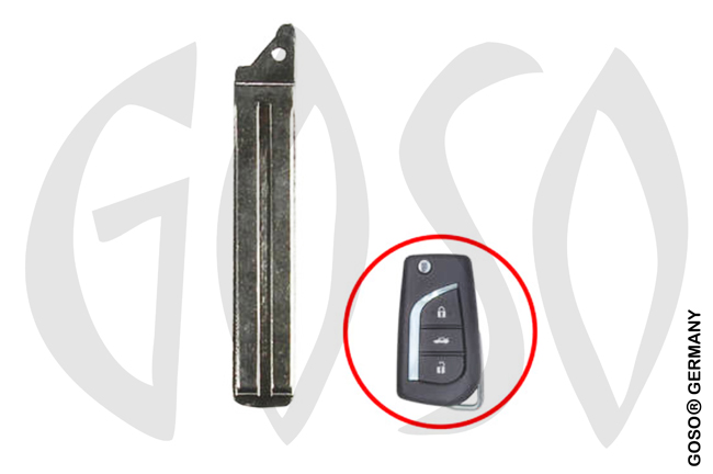1 pc key blank for Toyota TOY48 NE66 # 6291-4