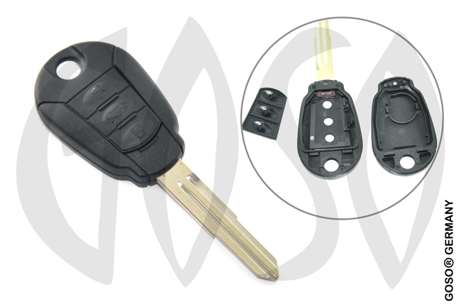 Hyundai 3 button key shell HYN6 6307