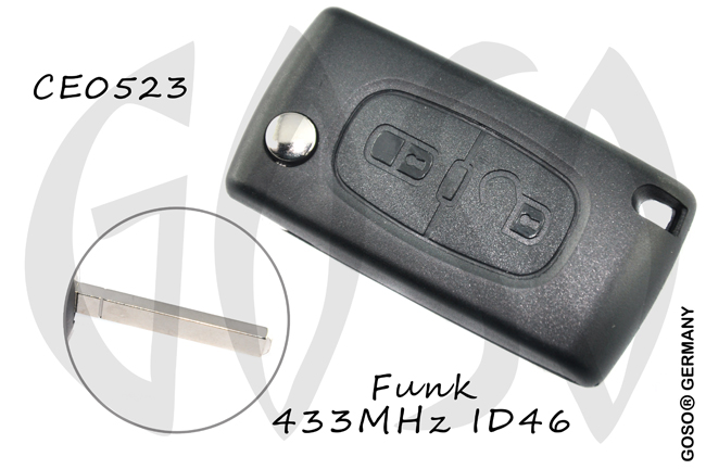 Remote Key for Citroen ID46  PCF7941A Leer ASK VA2 2T  6314